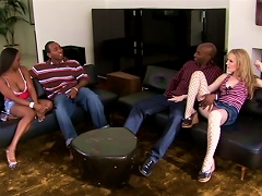 Awesome Interracial  With Jada Fire And Haley Scott